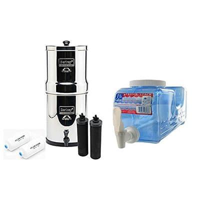 Best Countertop Water Filters Big Berkey BK4X2 Countertop Water Filter System