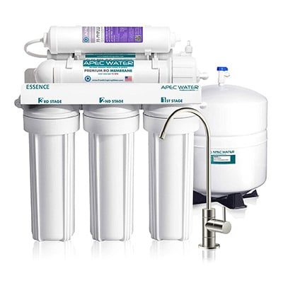 Best Alkaline Water Filters APEC Top Tier Alkaline Mineral 6-Stage Reverse Osmosis Water Filter System