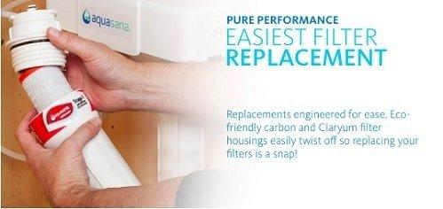 aquasana easiest filter replacement