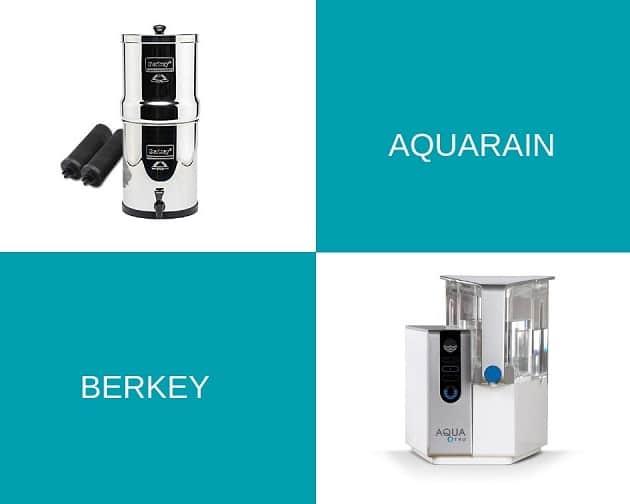 AquaRain vs Berkey Water Filter comparison