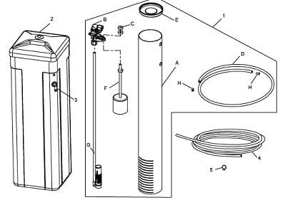 Brine Well Assembly For OM26K-S diagram