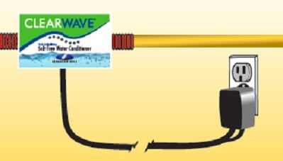 step 3 of ClearWave Electronic Water Conditioner  installation