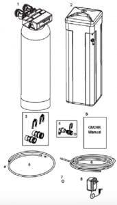 details of OM26K-S OMNIFilter Water Softener pack