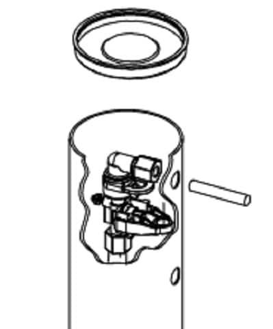 Model OM26K-S Salt Line Connection