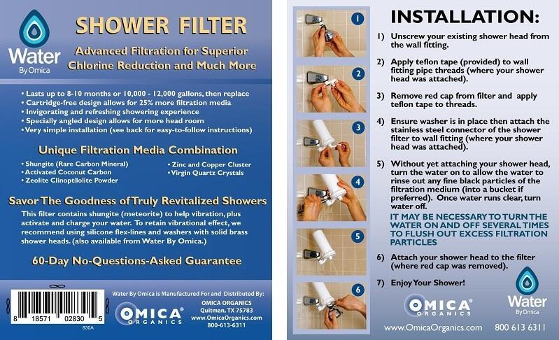 Omica Organics Shower Filter Installation Guide