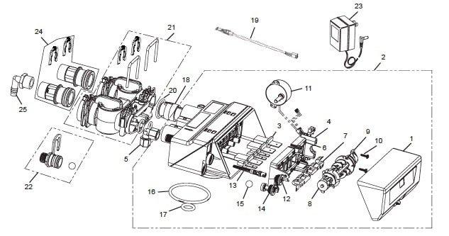 Valve Assembly For OM32KCS diagram