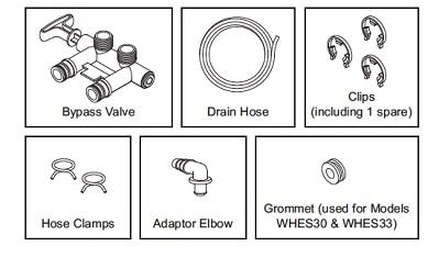 parts of Whirlpool WHELJ1 in a package