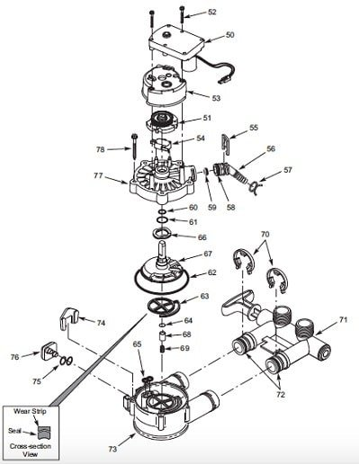 components of whirlpool WHELJ1 Filter Valve Assembly