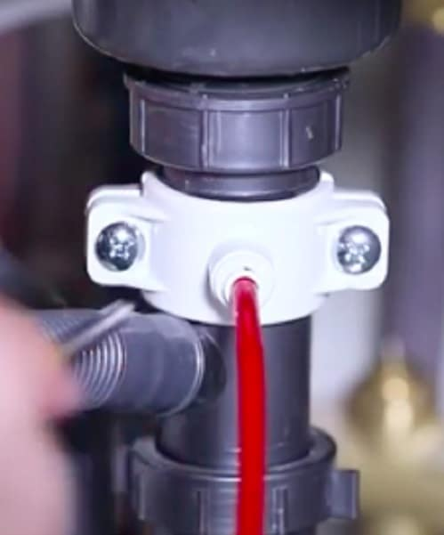 installing drain saddle for waterdrop RO sytem