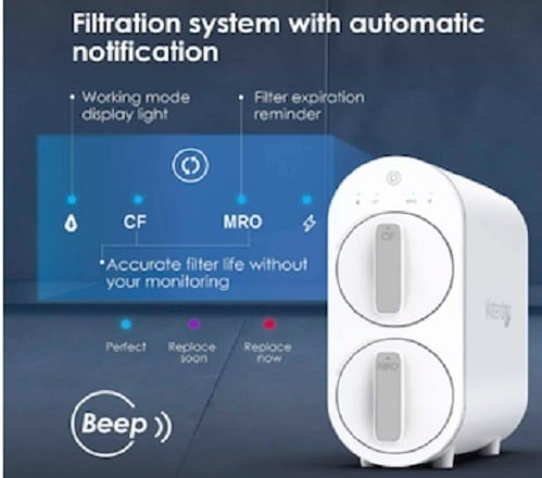 automatic notification of waterdrop water filter