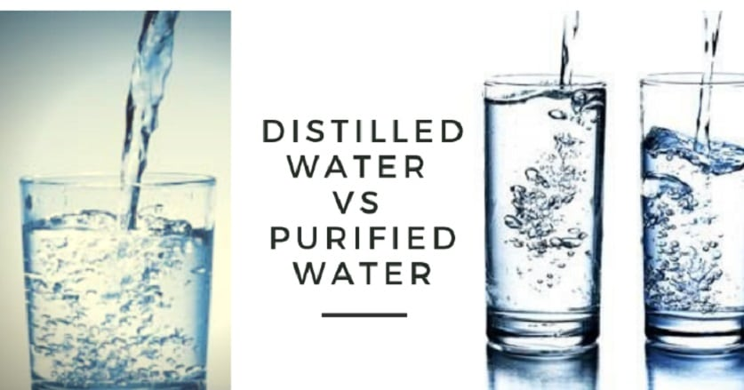 distilled water vs Purified Water: comparison