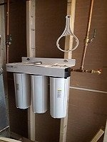 HM water filtration system installed