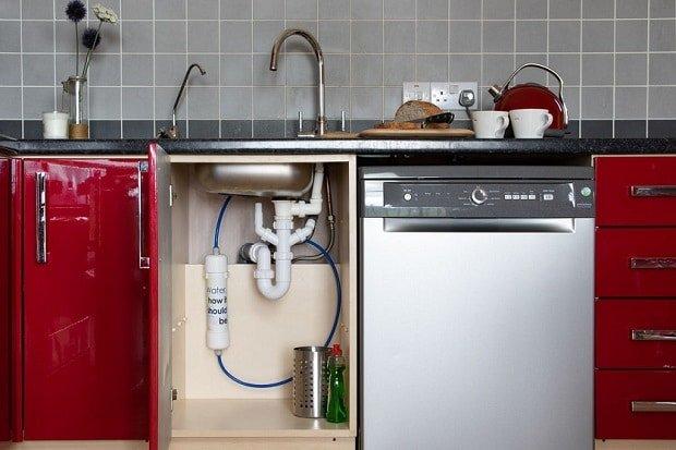 Woder Water Filter used in kitchen