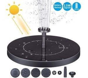 AISITIN 2.5W Solar Fountain Pump