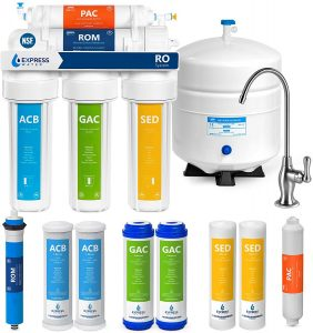 Express Water RO5DX Reverse Osmosis Filtration NSF Certified 5 Stage