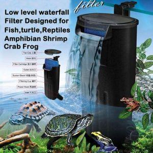 Aquarium Turtle Filter, Cascade Flow Clean Water Pump