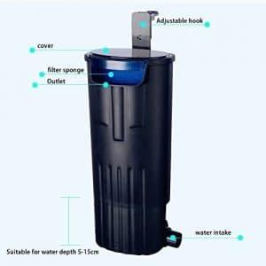 LONDAFISH Submersible Water Filter for Turtle Tank
