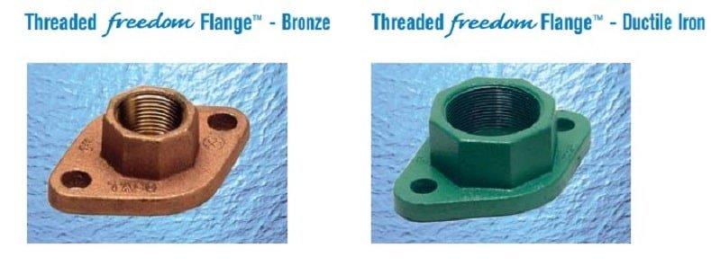 threaded freedom flange bronze