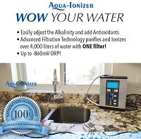 Aqua Ionizer Deluxe 9.0 in kitchen