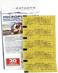Katadyn Micropur MP1 used in travel