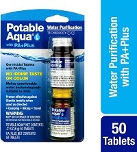 Potable Aqua purification tablets in usage
